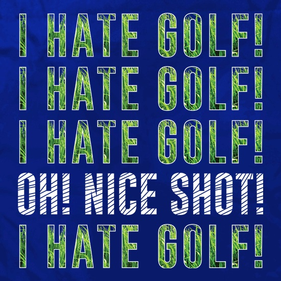 I Hate Golf Apron