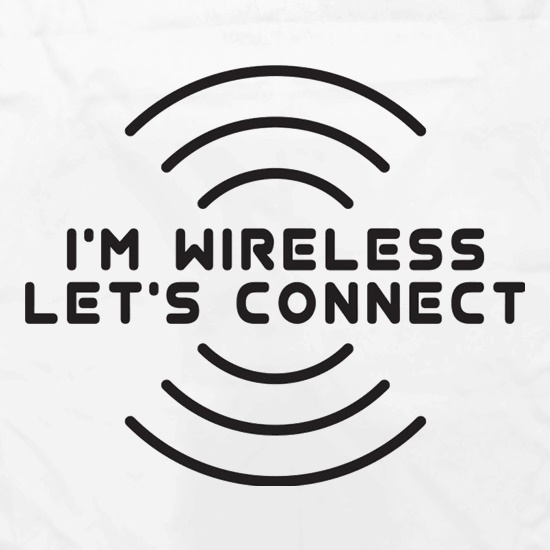 I'm Wireless Let's Connect Apron