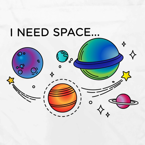 I Need Space Apron