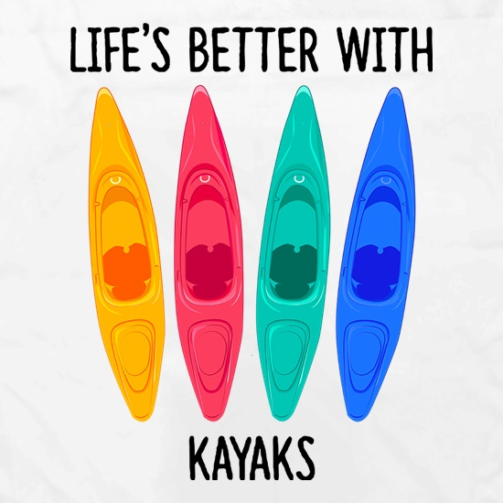 Life's Better With Kayaks Apron