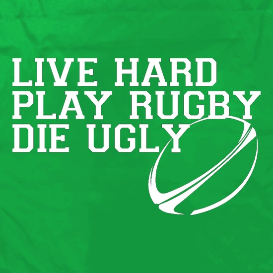 Live Hard Play Rugby Die Ugly Apron