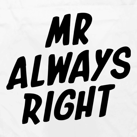 Mr Always Right Apron