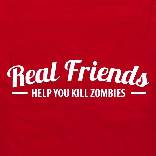 Real Friends Help You Kill Zombies Apron