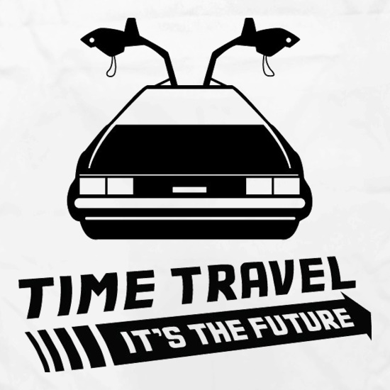 Time Travel It's The Future Apron