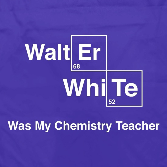 Walter White Was My Chemistry Teacher Apron