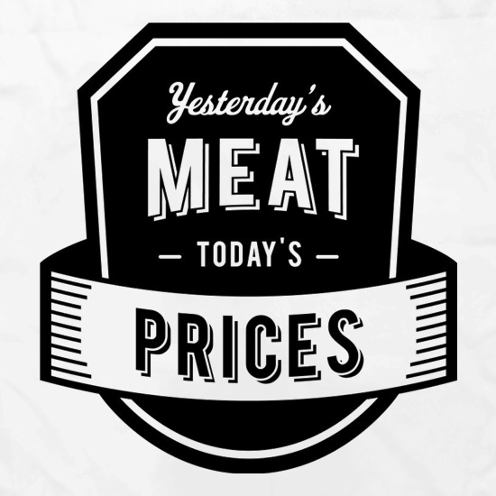 Yesterday's Meat Today's Prices Apron