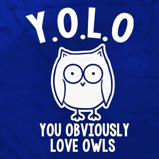 Y.O.L.O You Obviously Love Owls Apron