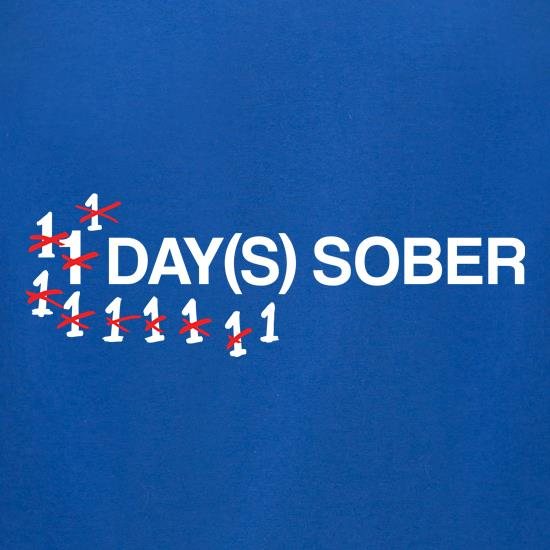 1 Day Sober t-shirts for ladies
