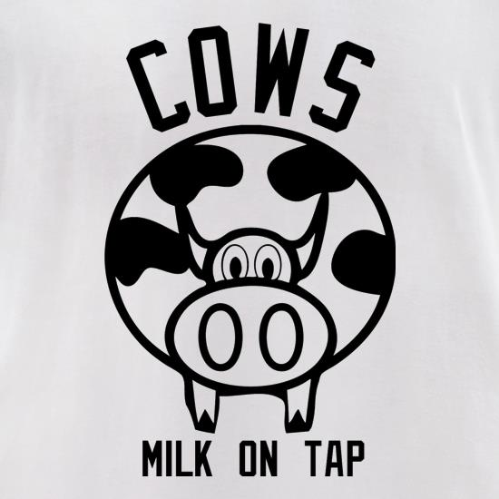 Cows Milk on Tap t-shirts for ladies