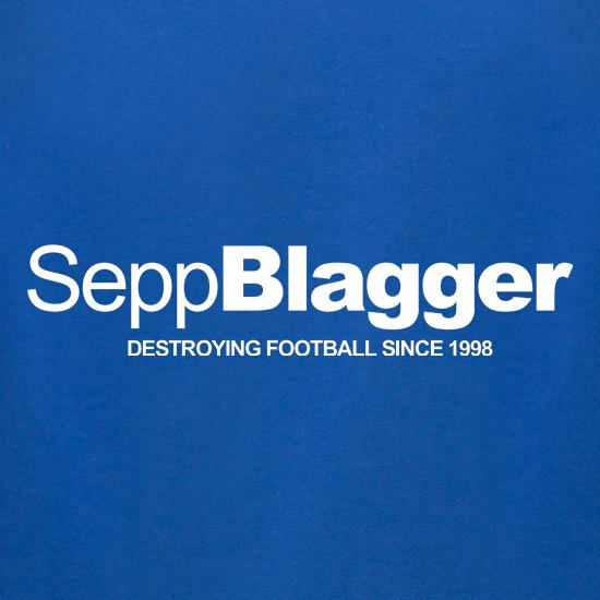 Sepp Blatter...Destroying football since 1998 t-shirts for ladies
