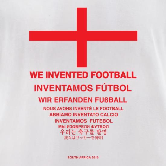 We Invented Football t-shirts for ladies