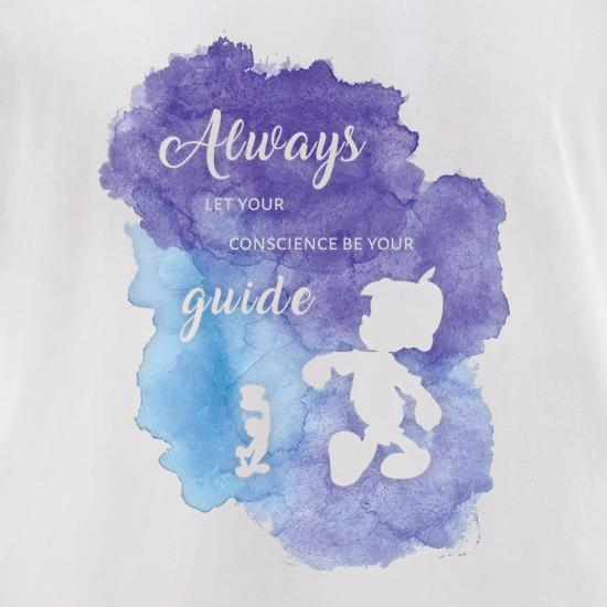 Always Let Your Conscience Be Your Guide t-shirts for ladies
