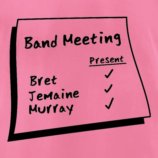 Band Meeting t-shirts for ladies