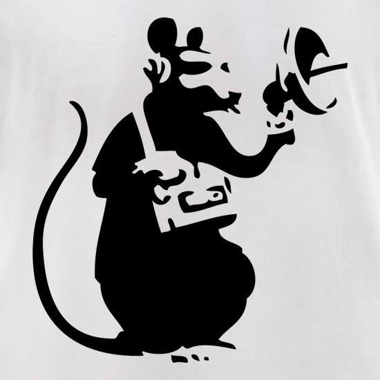 Banksy Listening Rat t-shirts for ladies