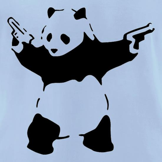 Banksy Panda t-shirts for ladies