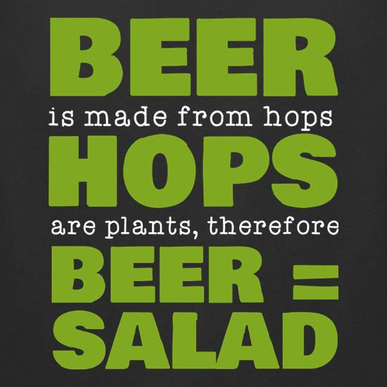 Beer Equals Salad t-shirts for ladies
