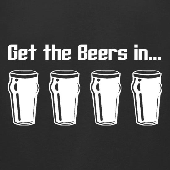 Get the beers in t-shirts for ladies