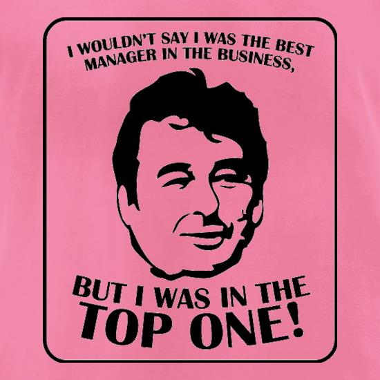 Brian Clough t-shirts for ladies