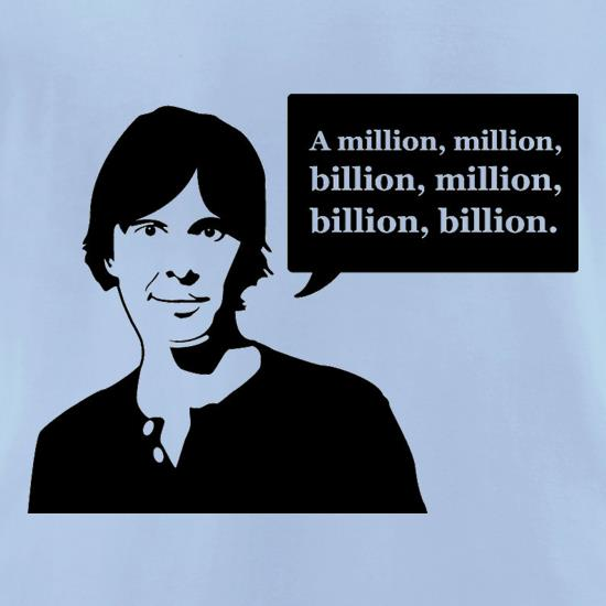 Brian Cox Million Billion t-shirts for ladies