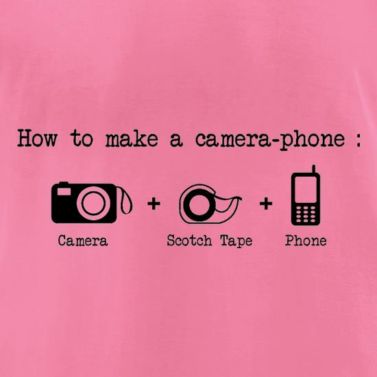 How To Make A Camera Phone t-shirts for ladies