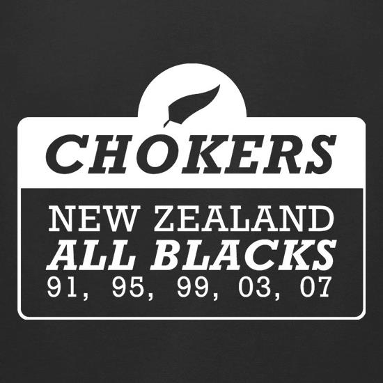 Chokers New Zealand All Blacks t-shirts for ladies