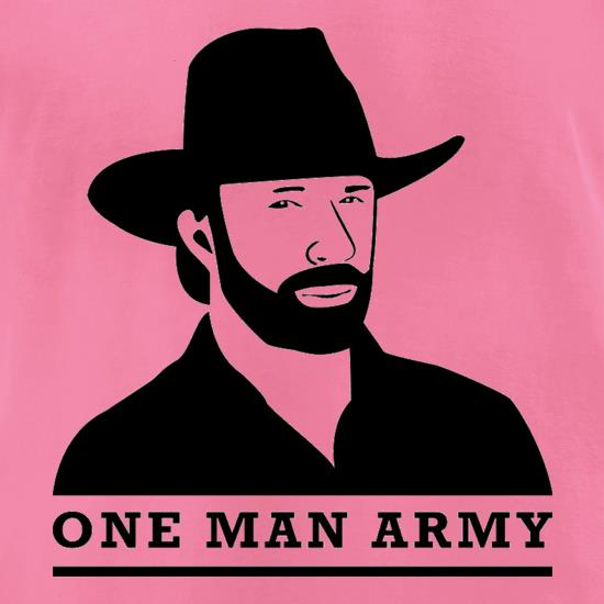 Chuck Norris One Man Army t-shirts for ladies