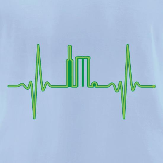 Cricket Heartbeat Monitor t-shirts for ladies