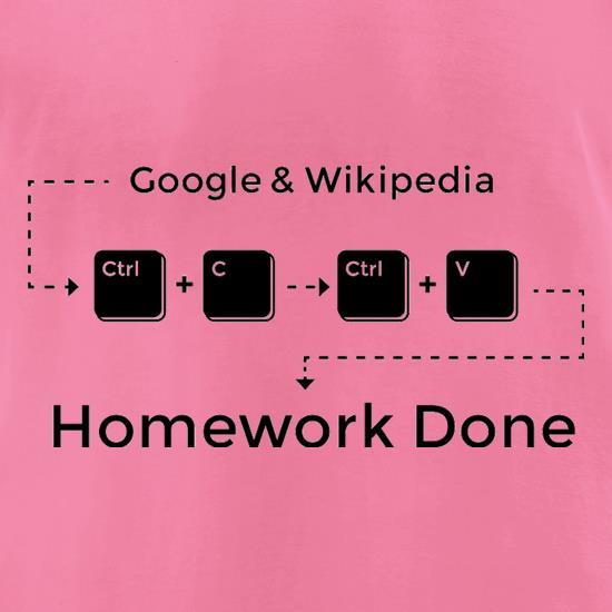 Ctrl C And Ctrl V Equals Homework Done t-shirts for ladies