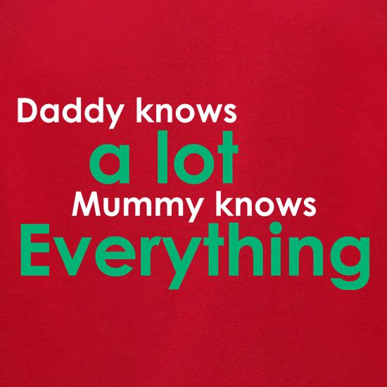 Daddy Knows A Lot But Mummy Knows Everything t-shirts for ladies