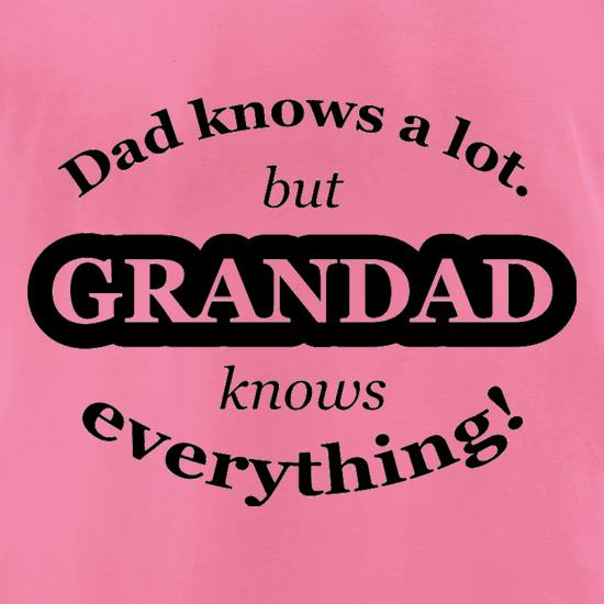 Dad Knows A Lot But Grandad Knows Everything t-shirts for ladies
