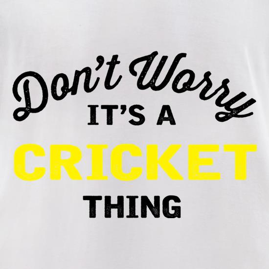 Don't Worry It's A Cricket Thing t-shirts for ladies
