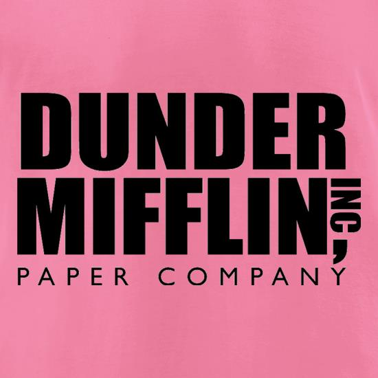 Dunder Mifflin Inc Paper Company t-shirts for ladies