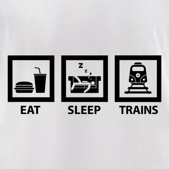Eat, Sleep, Trains t-shirts for ladies