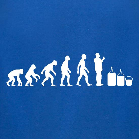 Evolution Of Man Homebrew t-shirts for ladies