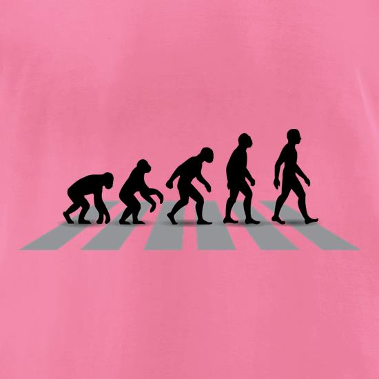 Evolution Of Man Abbey Road t-shirts for ladies