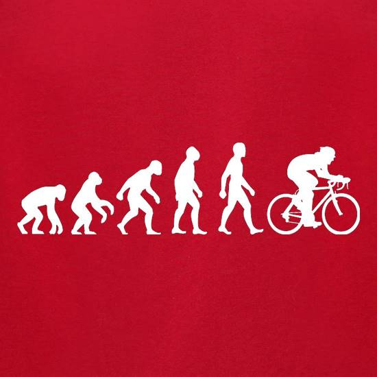 Evolution of Man Cycling t-shirts for ladies