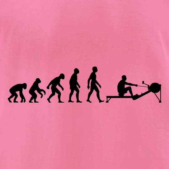 Evolution of Man Rowing Machine t-shirts for ladies