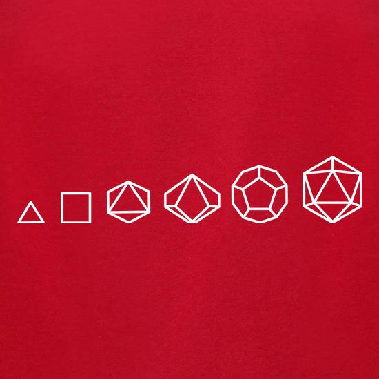 Evolution of Role Playing Dice t-shirts for ladies