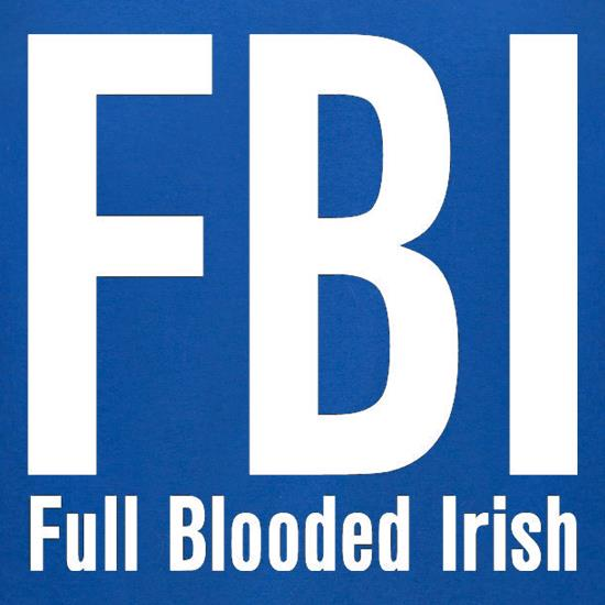 FBI Full Blooded Irish t-shirts for ladies