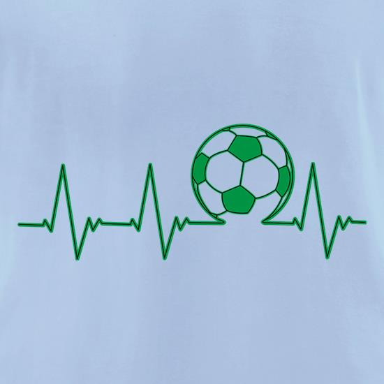 Football Heartbeat t-shirts for ladies