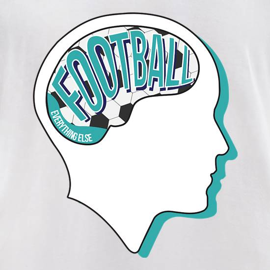 Football On The Brain t-shirts for ladies