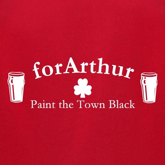 for Arthur! Paint the town black t-shirts for ladies