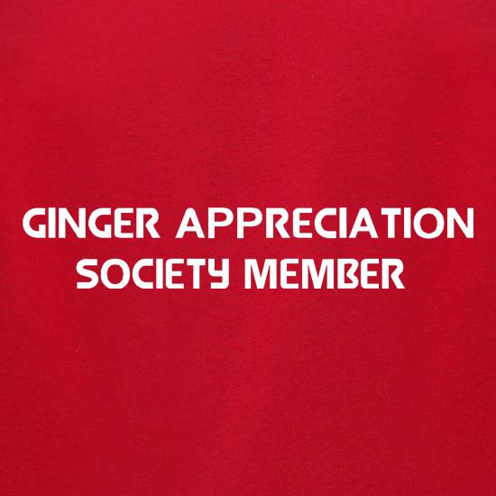 Ginger appreciation society member t-shirts for ladies