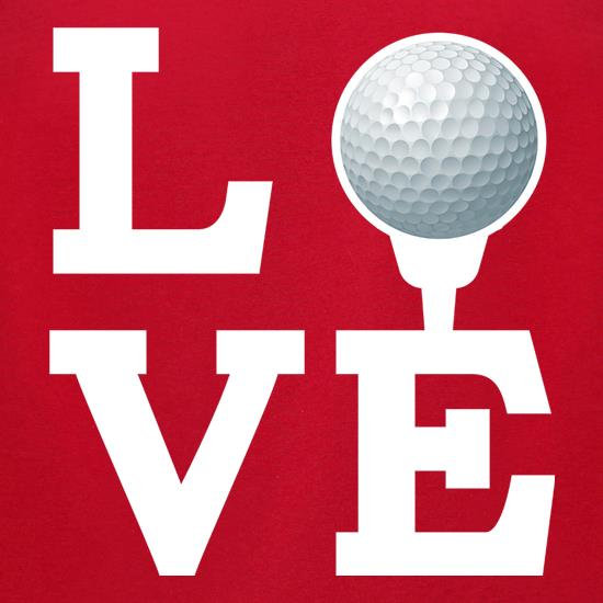 Golf Love t-shirts for ladies