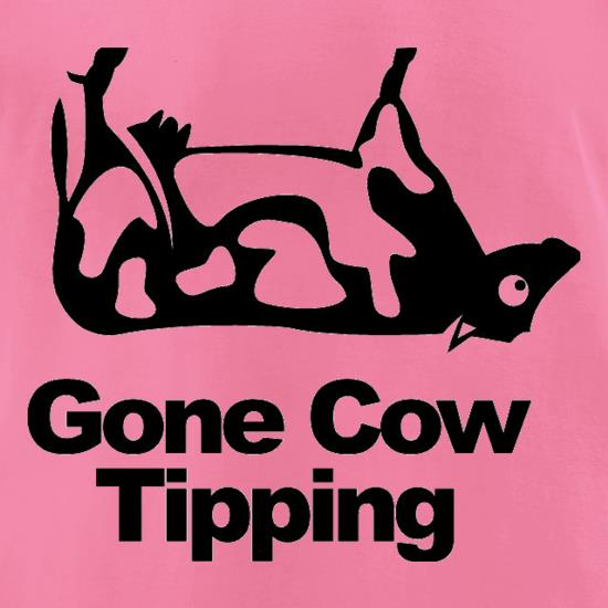 Gone Cow Tipping t-shirts for ladies