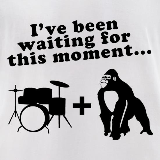 Gorilla + Drums t-shirts for ladies