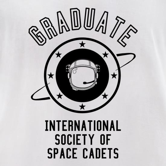 Graduate - International Society of Space Cadets t-shirts for ladies