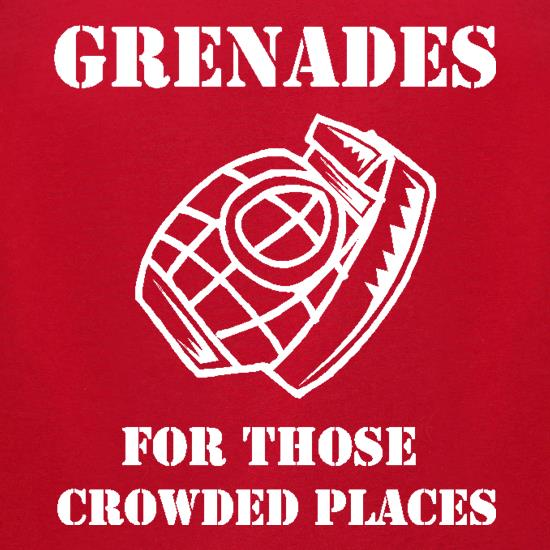Grenades for those crowded places t-shirts for ladies