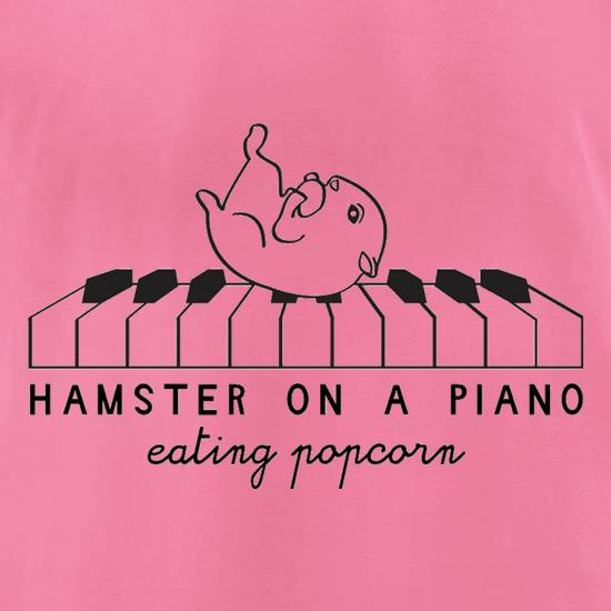 Hamster On A Piano Eating Popcorn t-shirts for ladies