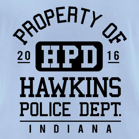 Hawkins Police Department t-shirts for ladies